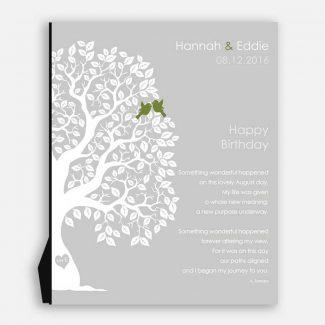 August Birthday Love Poem Personalized Happy