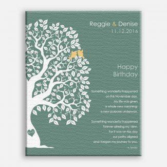 November Birthday Love Poem Personalized Happy