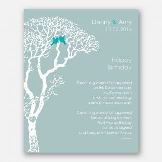 December Birthday Love Poem Personalized Happy