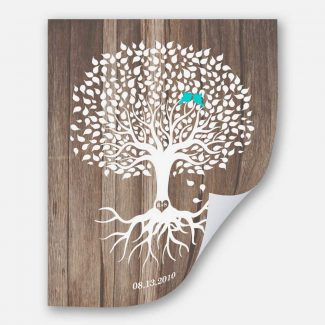Personalized Anniversary Gift Faux Wood White