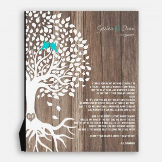 Personalized Anniversary Gift Wedding Tree Faux