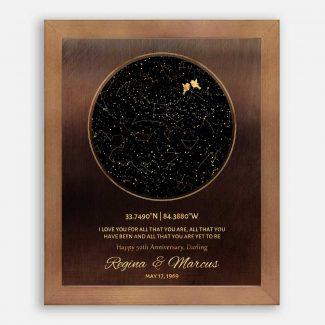 50th Anniversary, Custom Star Map, Constellation