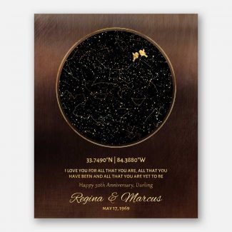 50th Anniversary, Custom Star Map, Constellation