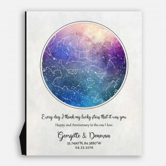 2 Year Anniversary, Custom Star Map,