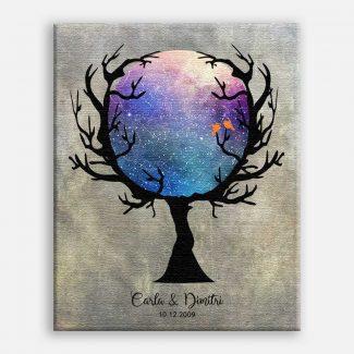 Custom Star Map in Tree, Constellation