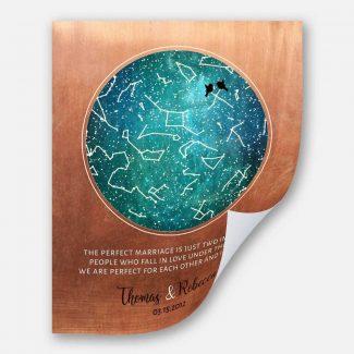 7 Year Anniversary, Custom Star Map,