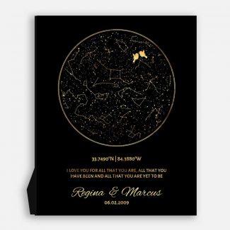 50 Year Anniversary, Custom Star Map,
