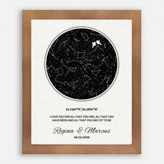11 Year Anniversary, Custom Star Map,