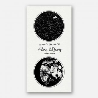 Star Map, Moon Phase, 2 Year