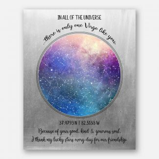 Friendship Star Map Astrology Gift With