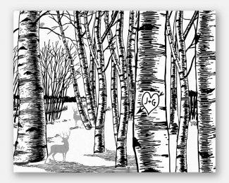 Winter Birch Tree Forest, 10 Year