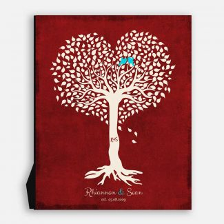 Valentine Gift for Her, Personalized Anniversary Gift, Heart Shaped Tree, Valentine Gift for Him #1812