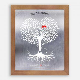 10 Year Anniversary, Valentine, Personalized, Heart
