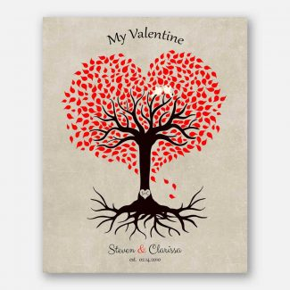 10 Year Anniversary Gift, Valentine, Tin Gift, Personalized, Heart Shaped Tree, 10th Anniversary #1815