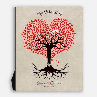 10 Year Anniversary Gift, Valentine, Tin Gift, Personalized, Heart Shaped Tree, 10th Anniversary #1815