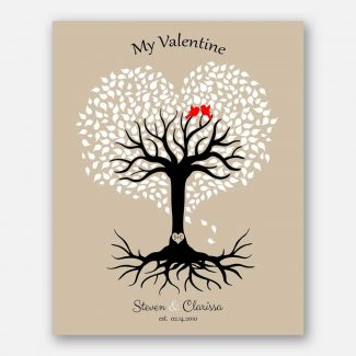 10th Year Anniversary, Valentine Gift, Personalized Gift, Heart Shaped Tree, 10 Year Anniversary #1816
