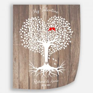 5 Year Anniversary, Valentine, Wood Anniversary,