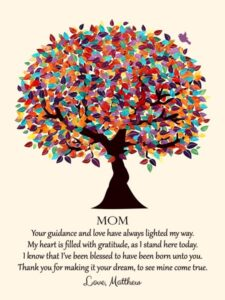 Canvas Poem Gift for Mom – Personalized for Matthew