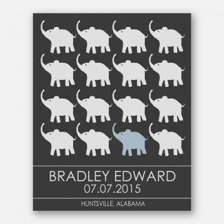Little Elephants for Blue Room Childrens