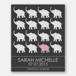 Little Elephants for Pink Room Childrens