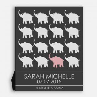 Little Elephants for Pink Room Children's