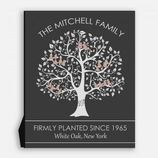 Family Tree Black and White Birds