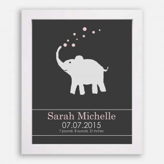 Baby Elephant For New Baby Pink