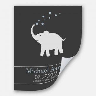 Baby Elephant For New Baby Blue