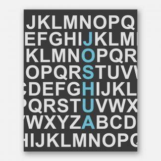 Blue Letters Name Alphabet For Kids
