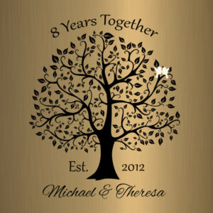 Personalized 8 Year Anniversary Gift Custom Art Proof for Michael W.
