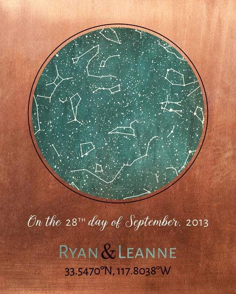 Custom Art Proof Night Sky Star Map for Ryan A.