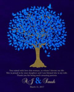 Read more about the article Bride's Mother Groom To Parents Blue Oak Family Tree Wedding Poem Thank You Gift – Personalized For Sarah