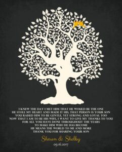 Read more about the article Gift for Mother Family Tree Personalized for Shawn & Shelby