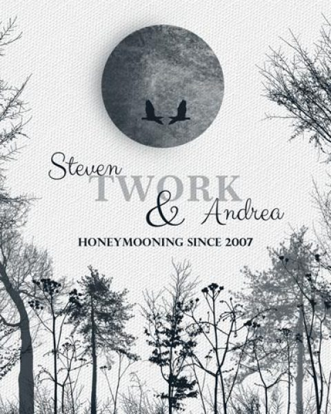 Ten Wonderful Years Anniversary Honeymoon Winter Trees From Husband Gift – Personalized For Steven