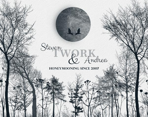 Ten Wonderful Years Anniversary Honeymoon Winter Trees From Husband Gift – Personalized For Steven