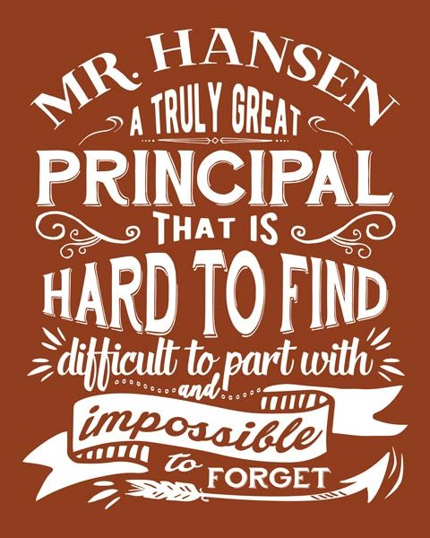 School Principal Retirement Year End Appreciation Gift – Personalized for Suzanne