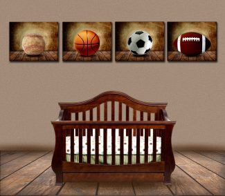 Set of 4 Size Unframed Sports