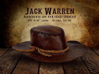 Cowboy Hat on Wood Table Vintage