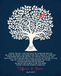 Read more about the article Family Tree Mother Father Thank You Wedding Gift – Personalized for Tiffanie