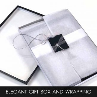 Gift Box With Tissue Wrapping and Gift Tag