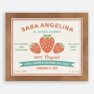 All Natural Strawberry Custom Fruit Crate