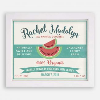 Sweet Delicious Watermelon Custom Fruit Crate