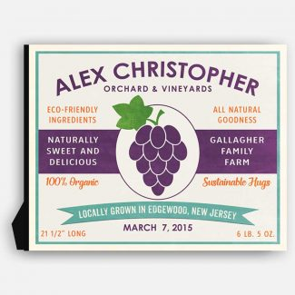 Grape Orchard Vineyard Custom Fruit Crate