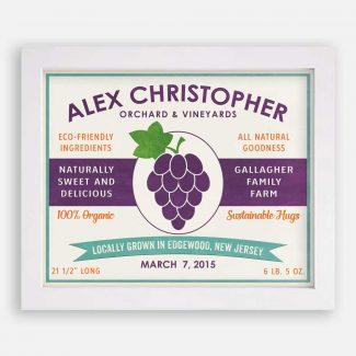 Grape Orchard Vineyard Custom Fruit Crate