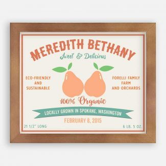 Pears Sweet Delicious Custom Fruit Crate