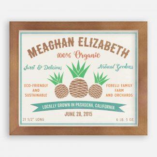 Pineapple Natural Goodness Custom Fruit Crate