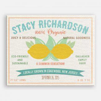 Lemon Summer Sensation Custom Fruit Crate