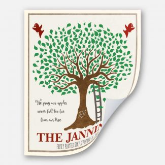 Family Apple Tree Custom Crate Label
