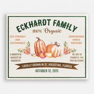 Bountiful Harvest Pumpkin Gourd Custom Crate
