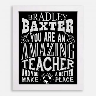 Teacher Amazing Custom Gift For Professor Instructor Tutor Helper Typography Personalized #1156